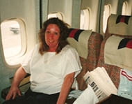 Maureen on Plane